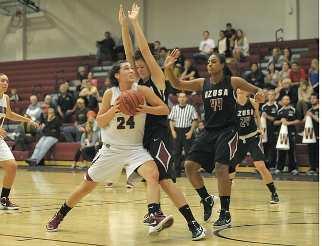 Tugce Canitez (24) played a big part in Westmont's 68-64 victory over top-ranked Azusa Pacific in their Golden State Athletic Conference opener.