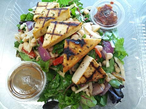 Daily Greenz's Tuscan tofu salad.