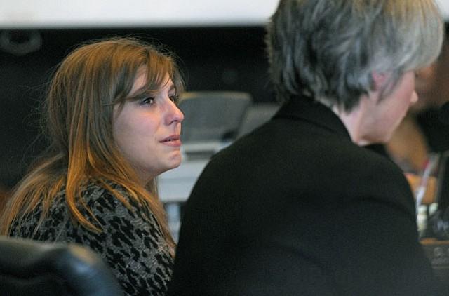 Lacey Strange at her sentencing hearing