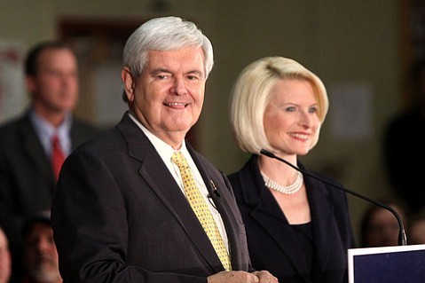 Newt Gingrich with his wife, Callista Gingrich.
