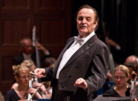 Charles Dutoit cut an impressive figure on the podium in tails at the head of the Royal Philharmonic Orchestra.