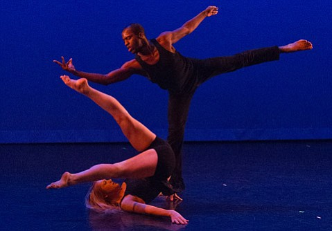 """This is Alyssa Thompson and Amadu Paul Turray in a piece called """"Sensed."""" Choreographed by Amanda Hart. Dancers are part of Hart Pulse Dance Company from Los Angeles."""