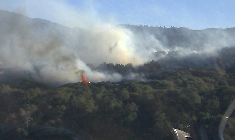 Fire near Paradise Road
