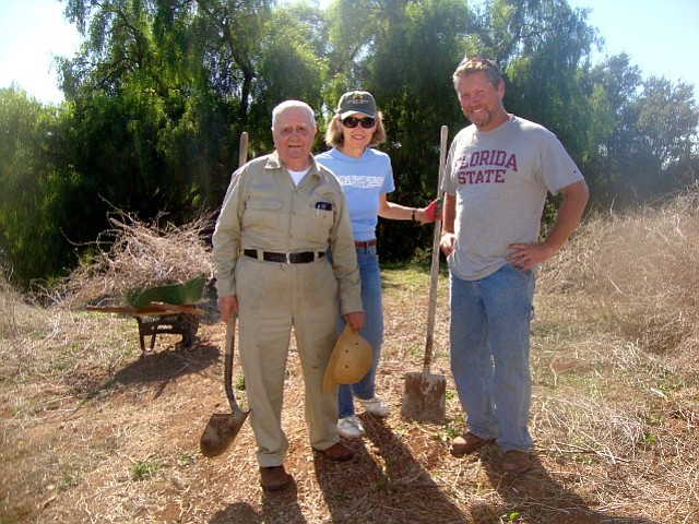 Left to right: Jimmy Maddalon, Linda Vogel, and Adam Graham