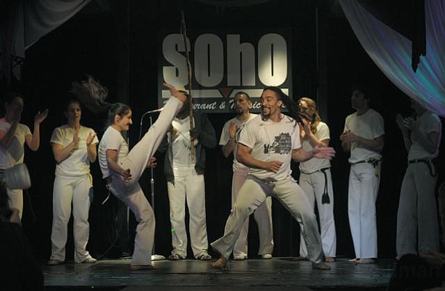 Capoeira Batuque perform for the crowd