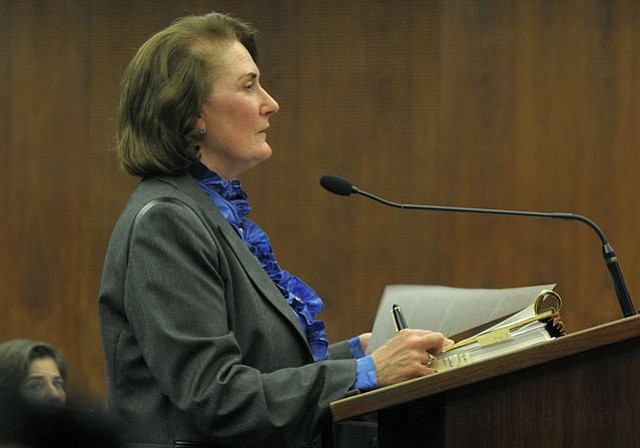 """Tim Doheny wanted to do the right thing for his ranch and his family,"" explained the Doheny's attorney Susan Petrovich (above) to the Board of Supervisors on Tuesday, adding, ""There are no immediate plans to build anything new. That ranch will remain as it is as far as the Doheny's are concerned."""