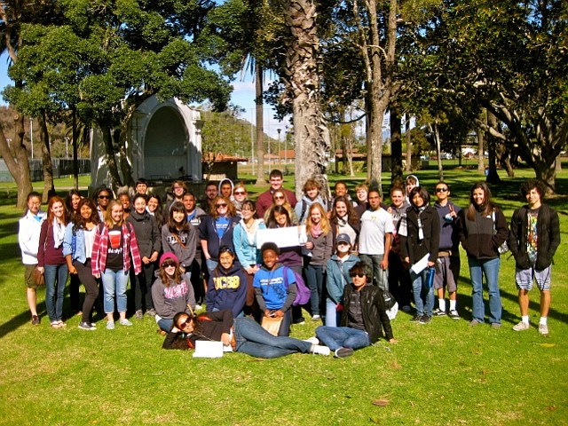 Members of UCSB's Christian group, Intervarsity, an their second annual City Walk