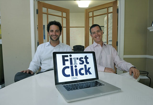 First Click's Jacques Habra (left) and Jay Klanfer
