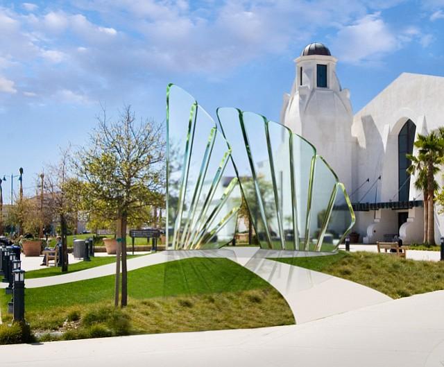 An artist rendering of Douglas Lochner's proposed veterans memorial sculpture for Santa Barbara Airport