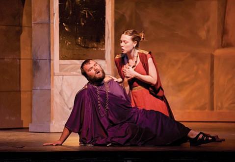 Bryan Lane as Nero and Helena von Rueden as Poppea.