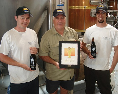 from left: Island Brewing's Shaun Crowley, Paul Wright, and Ryan Morrill.