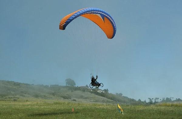 Ernie Butler lands at Elings Park (April 20, 2012)