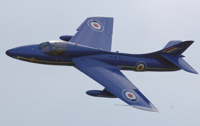 Hunter Hawker jet at 2007 air show in Gloucestershire, England