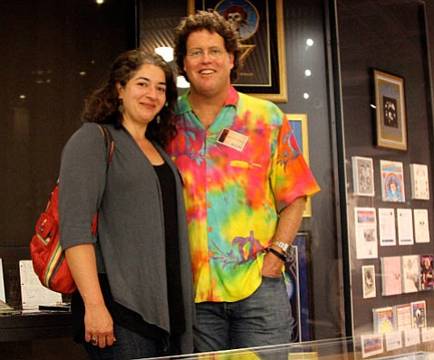 Santa Barbaran Scott Brittingham (right) donates $500,000 to UCSC's soon-to-open Grateful Dead Archive.