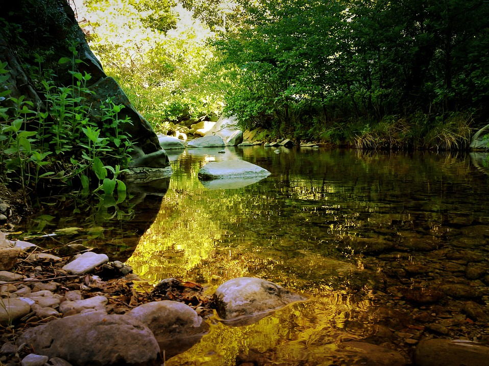 A pool on the Manzana Creek