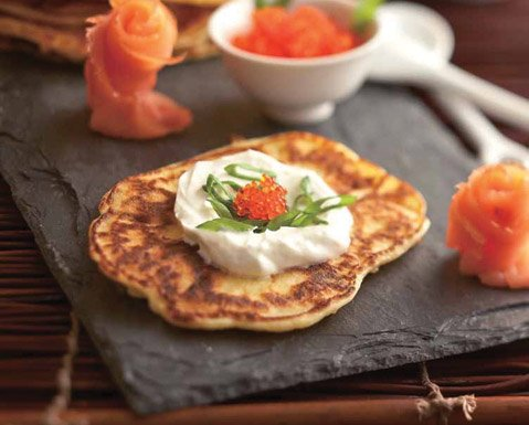 Goat Cheese Pancakes
