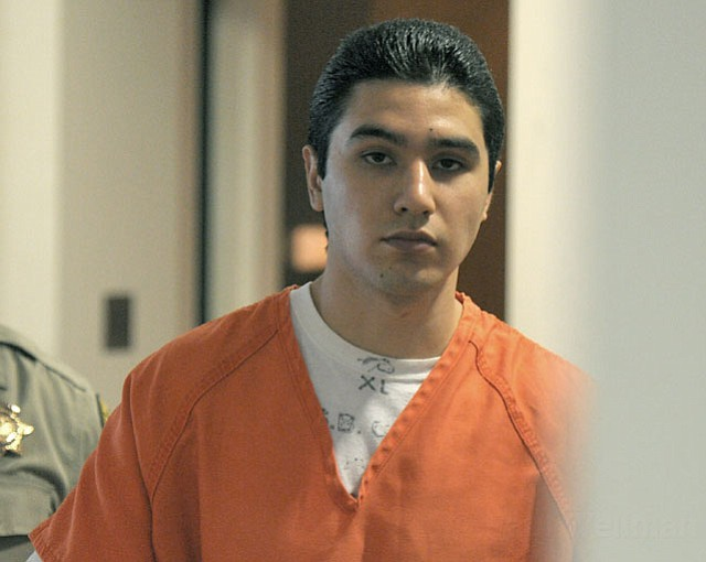 Benjamin Vargas leaves his sentencing hearing (July 16, 2012)