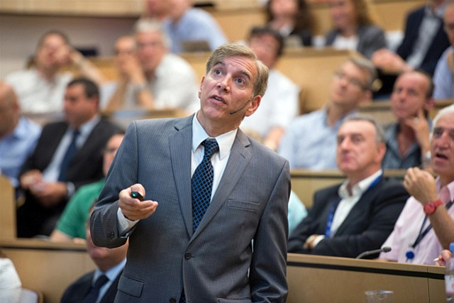 """UCSB physicist and spokesperson for the CMS experiment Joe Incandela addressed a seminar at CERN in Switzerland, where he declared, """"We have observed a new boson."""""""