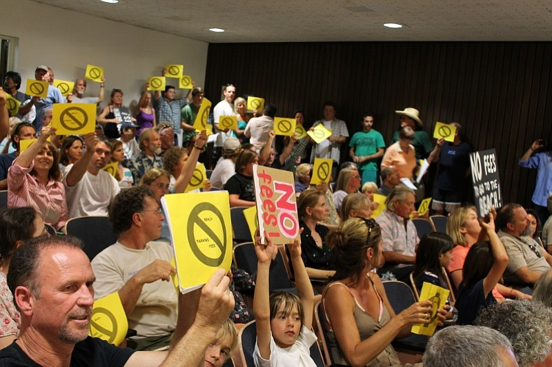 Santa Barbara County Park Commission holds public meeting on proposed beach parking fees (August 16, 2012)