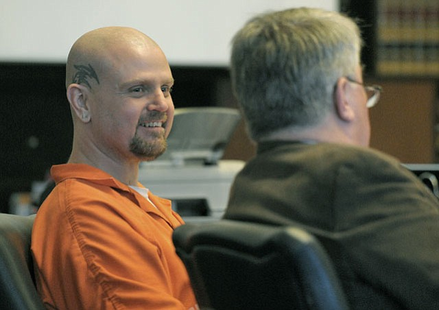 Kenneth Barber broke into a smile more than once during his sentencing hearing (August 27, 2012)