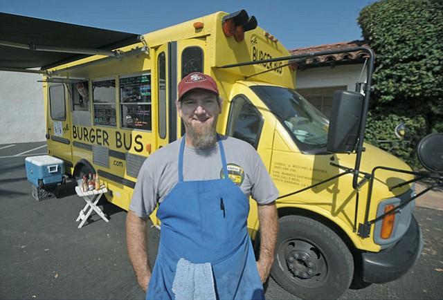 The Burger Bus' Michael Gardner.