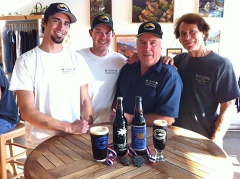 Island's Ryan Morrill (left), Shaun Crowley, owner Paul Wright, and Bill Geldreich