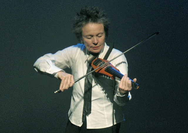 Laurie Anderson performs Dirtday! at Campbell Hall (Oct. 25, 2012)