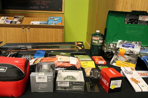 Some of REI's suggested survival equipment and supplies.