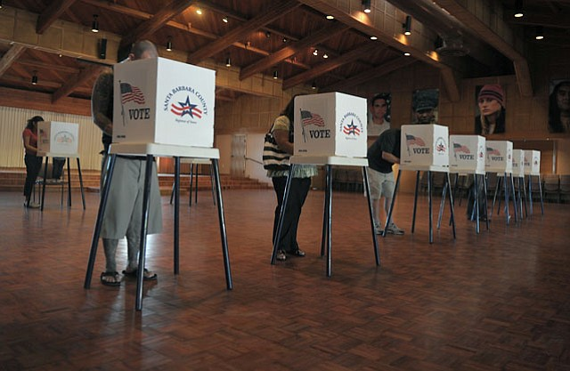 Santa Barbara votes in the 2012 Presidential Election