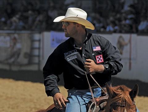 Luke Branquinho during Old Spanish Days Rodeo in August 2012.