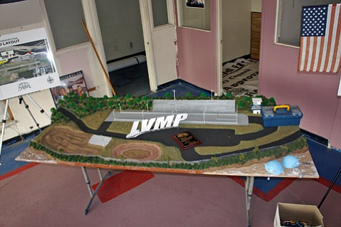 A model of the proposed Lompoc Motorsports complex.