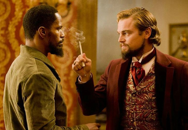 Jamie Foxx (left) and Leonardo DiCaprio star in Quentin Tarantino's latest film about a freed slave and his fight to rescue his wife from a brutal Mississippi plantation owner.