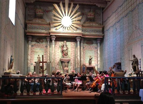 San Luis Obispo Symphony String Orchestra at Mission San Miguel