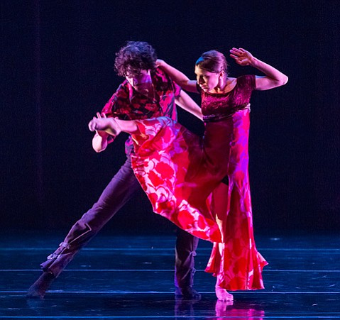 "Alejandro Cerrudo (left) and Kellie Epperheimer in Aszure Barton's ""Untouched."""