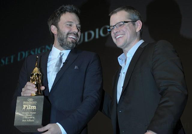 Ben Affleck receives the SBIFF 2013 Modern Master Award presented by Matt Damon (Jan. 25, 2013)