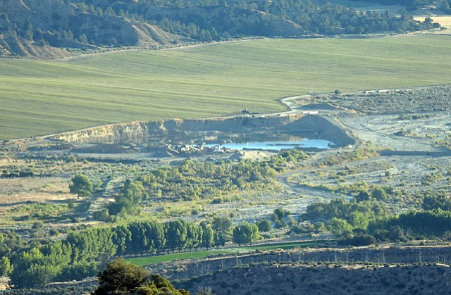 A mining operation upstream from the Cuyama Valley off Lockwood Valley Rd.