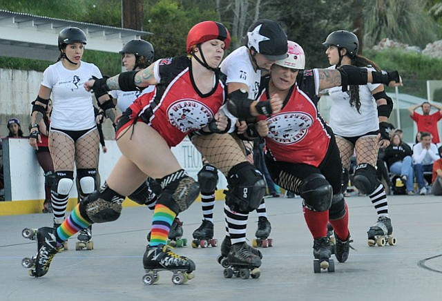 The Brawlin' Betties beat the Derby Divas at their Saturday home game.