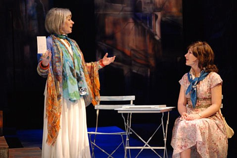 L to R:  Anne Torsiglieri (Helen) and Sophie Hasset (Young Helen)