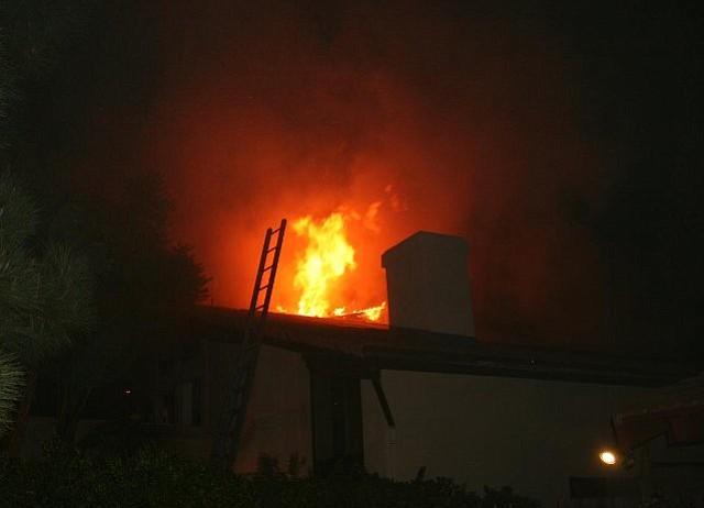 Fire at 720 Ribera Drive in Goleta