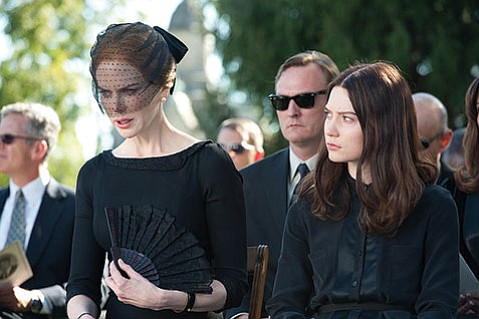 Mia Wasikowska (right) and Nicole Kidman star in director Park (<i>Oldboy</i>) Chan-wook's English-language debut, the eerie family drama <i>Stoker</i>.