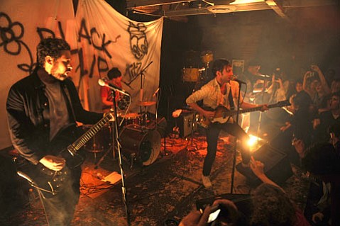 <b>BAD KIDS:</b>  Santa Barbara's punkers turned out in droves for Black Lips' high-octane Wednesday-night set at SOhO.