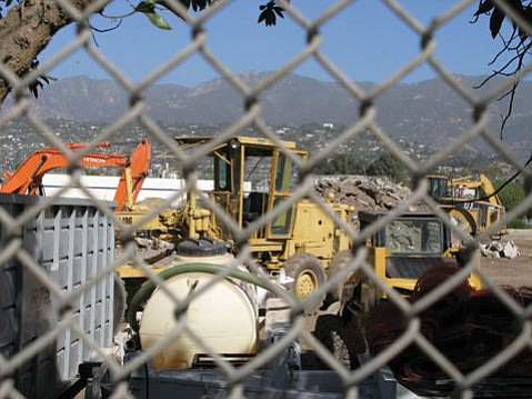 Site clearing for the new Fess Parker hotel began in 2007.