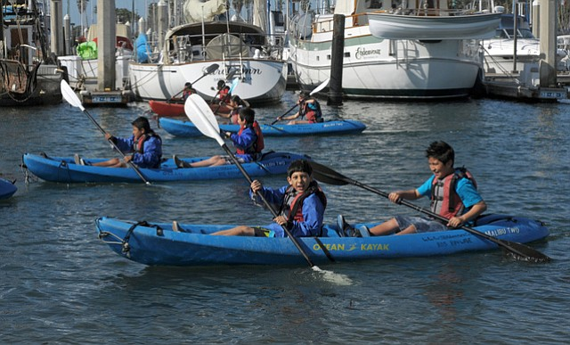 McKinley Elementary School students participate in the program called From Side Streams to Sea: The Health of a Watershed