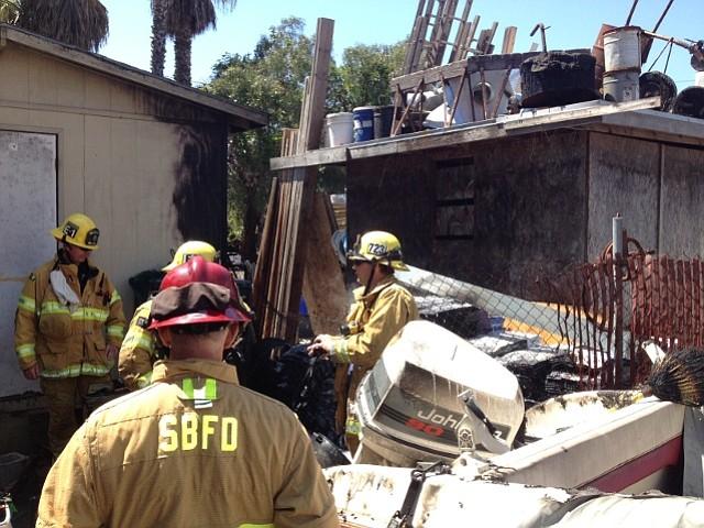 Firefighters mop up Funk Zone fire