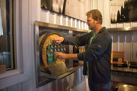 Jeffers Richardson pours a taste at Barrelworks in Buellton.