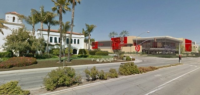 An architectural rendering of the Target store proposed for Hollister Avenue in Goleta