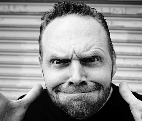 <b>FUNNY FACE:</b>  Comedian Bill Burr isn't that angry after all.