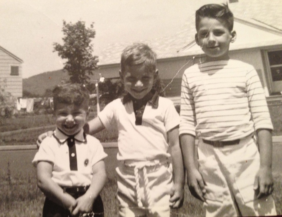 The author (center) with his cousin and his brother, outfitted for a bike ride. Clamdiggers?