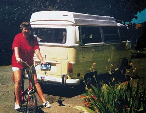 Peggy Hurst and her vintage VW van