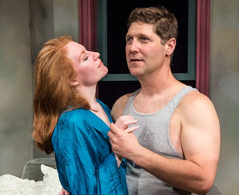 <b>ONE NIGHT WITH YOU:</b>  Dee Ann Newkirk and Rick Gifford are Frankie and Johnny in Ensemble's production of the Terrence McNally hit.